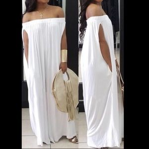 White Baggy Plus Size Romper